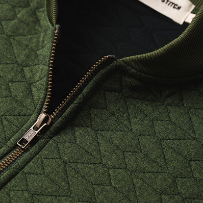 The Inverness Bomber in Olive Knit Quilt: Alternate Image 5