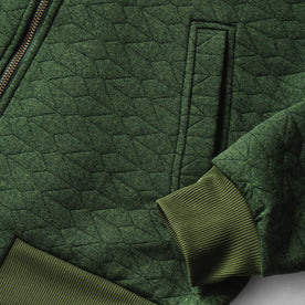 The Inverness Bomber in Olive Knit Quilt: Alternate Image 8