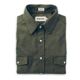 The Glacier Shirt in Olive Twill: Featured Image