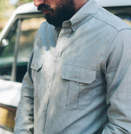 Steel Chambray Shotgun Shirt: Alternate Image 5