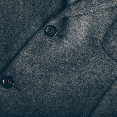 The Telegraph Jacket in Grey Wool - alternate view