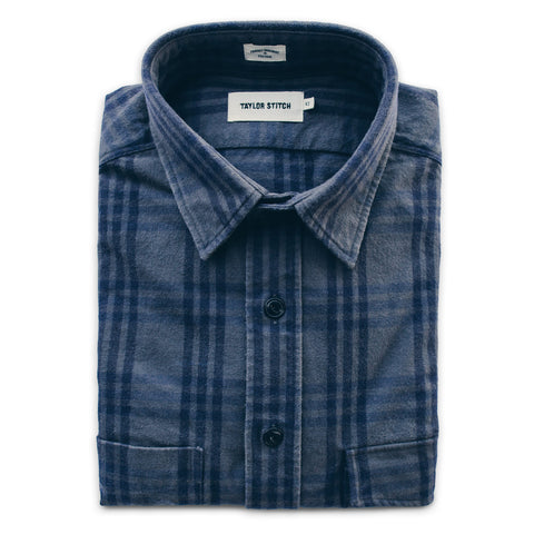The Crater Shirt in Charcoal & Navy Plaid - featured image