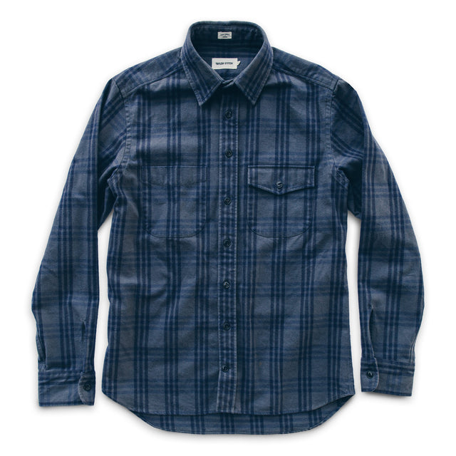The Crater Shirt in Charcoal & Navy Plaid
