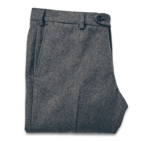 The Telegraph Trouser in Grey Wool - featured image