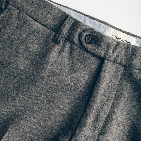 The Telegraph Trouser in Grey Wool - alternate view