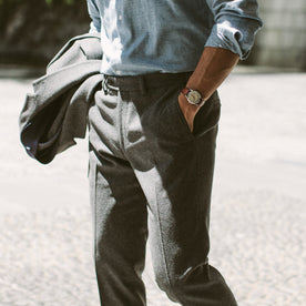 The Telegraph Trouser in Grey Wool: Alternate Image 5