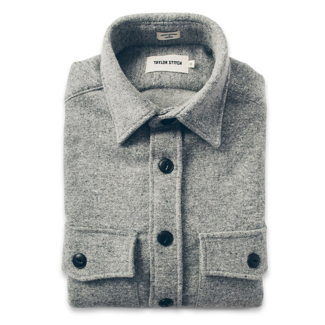 The Maritime Shirt Jacket in Ash Donegal Lambswool