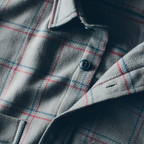 The Crater Shirt in Ash Plaid - alternate view