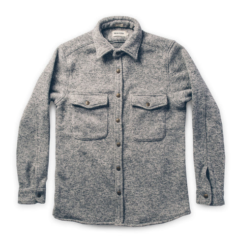 The Big Sur Jacket in Heather Grey Polartec - featured image