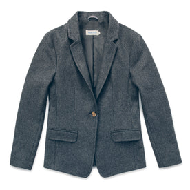 The Telegraph Blazer in Charcoal Wool: Featured Image