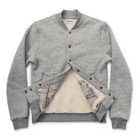The Bomber in White Fleck Fleece: Alternate Image 2