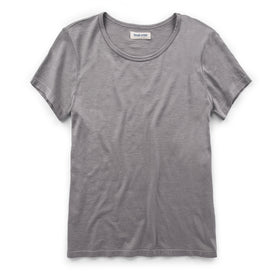 The Elle Crewneck Tee in Heather Grey: Featured Image