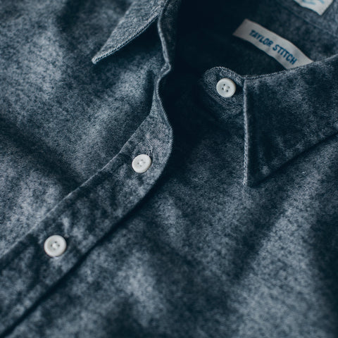 The Katherine in Charcoal Brushed Cotton - alternate view