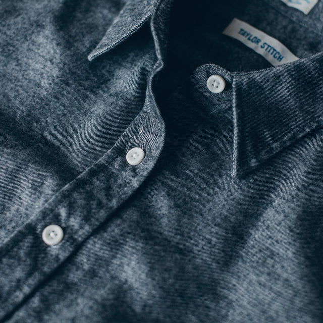 The Katherine in Charcoal Brushed Cotton