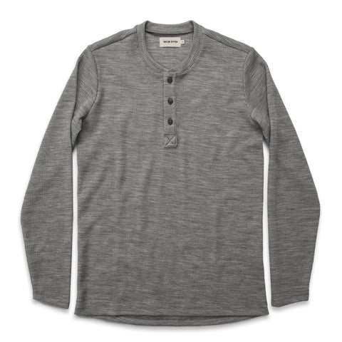 The Henley in Ash Merino Waffle - featured image