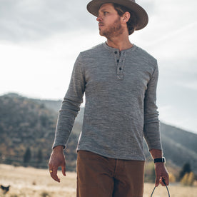 The Henley in Ash Merino Waffle: Alternate Image 2