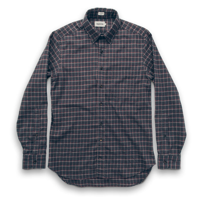 The Jack in Brushed Taupe Plaid Flannel
