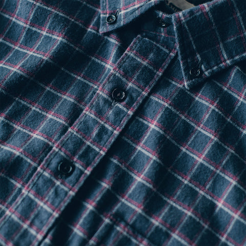 The Jack in Brushed Taupe Plaid Flannel - alternate view