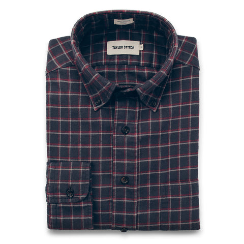 The Jack in Brushed Taupe Plaid Flannel - featured image