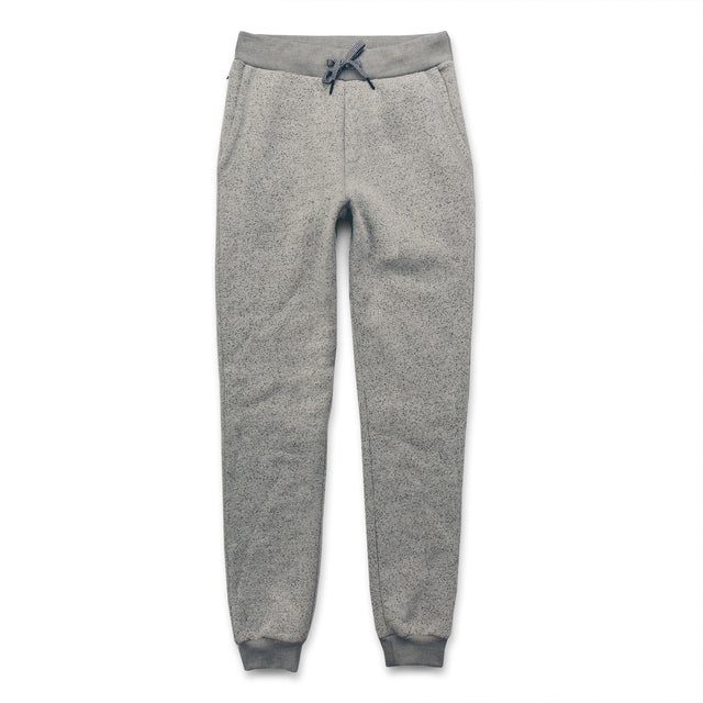 The Travel Pant in White Fleck Fleece