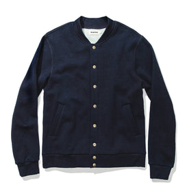 The Bomber in Indigo Fleece: Featured Image