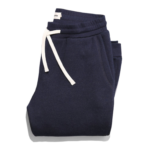 The Travel Pant in Indigo Fleece - featured image