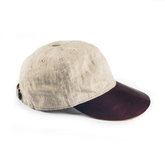 The Sun Cap in Natural Linen