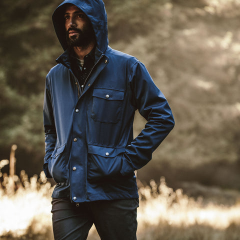The Hawkins Jacket in Cobalt - alternate view