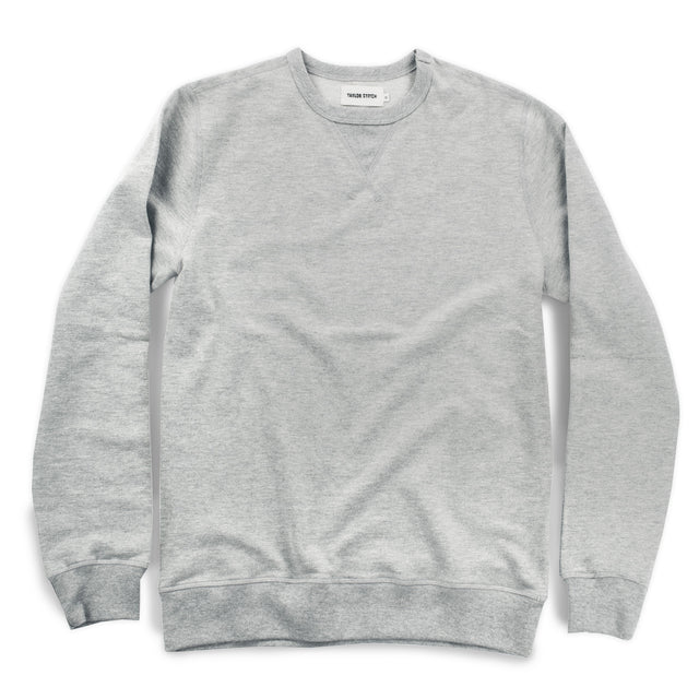 The Crewneck Sweatshirt in Heather Grey French Terry