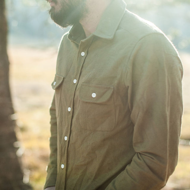 The Yosemite Shirt in Olive Drab