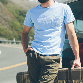 The Highway Tee in Dusty Blue: Alternate Image 3