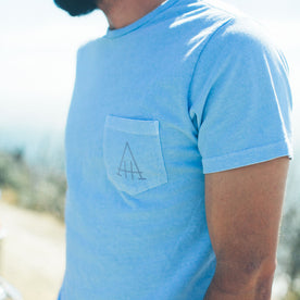The Highway Tee in Dusty Blue: Alternate Image 2
