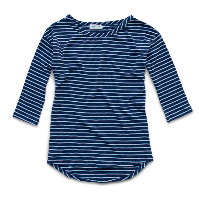 The Paige in Navy & White Stripe