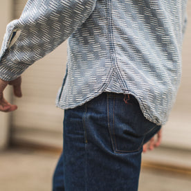 The Utility Shirt in Washed Indigo Jacquard: Alternate Image 3