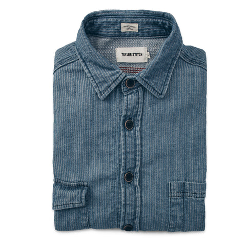 The Utility Shirt in Cone Mills Corded Indigo - featured image