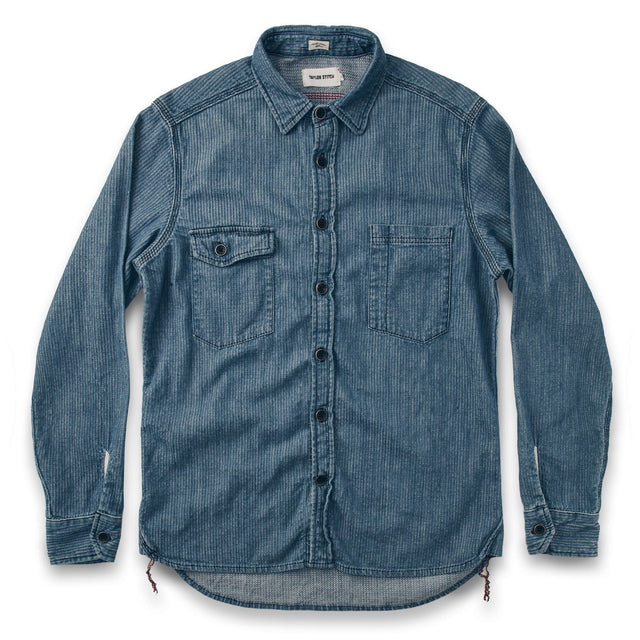The Utility Shirt in Cone Mills Corded Indigo