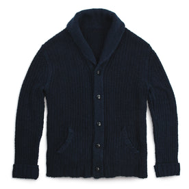 The Shawl Cardigan in Indigo Dipped Cotton: Featured Image