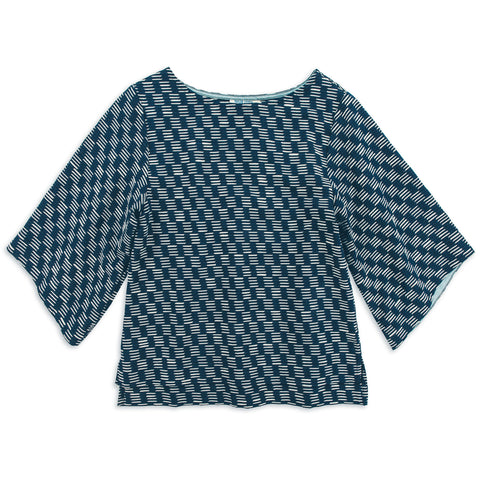 The Sonoma Top in Indigo Jacquard - featured image