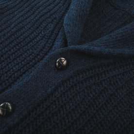 The Shawl Cardigan in Indigo Dipped Cotton: Alternate Image 4