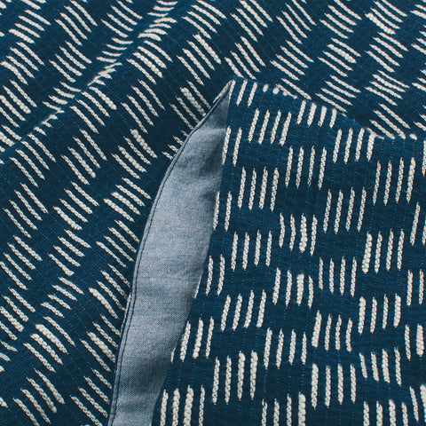 The Sonoma Top in Indigo Jacquard - alternate view