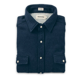 The Glacier Shirt in Indigo French Terry: Featured Image