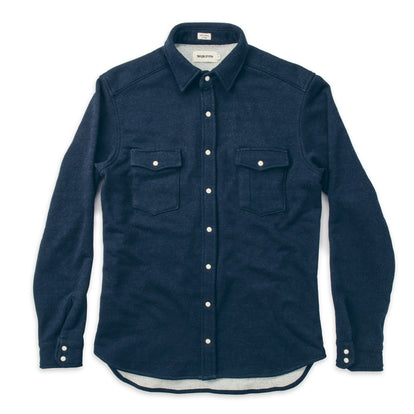 The Glacier Shirt in Indigo French Terry