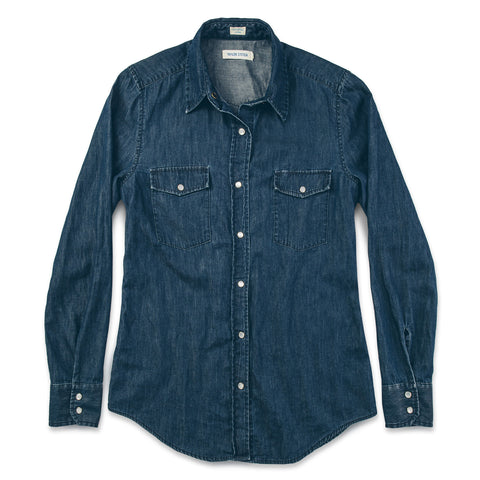 The Hutton Shirt in Indigo - featured image