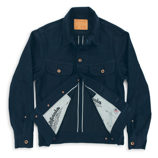 The Long Haul Jacket in Indigo Selvage Twill