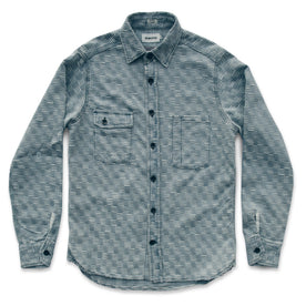 The Utility Shirt in Washed Indigo Jacquard: Alternate Image 6