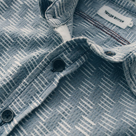 The Utility Shirt in Washed Indigo Jacquard: Alternate Image 5