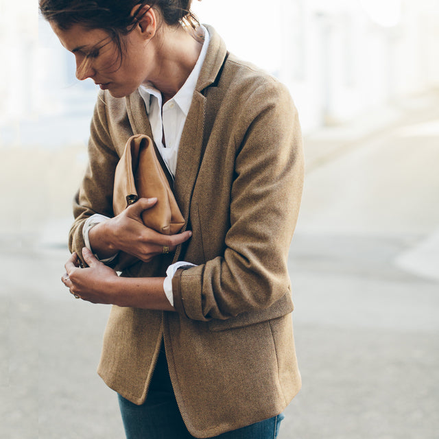 The Telegraph Blazer in Camel Italian Herringbone