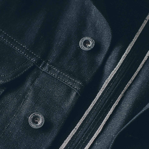 The Long Haul Jacket in Yoshiwa Mills Black Selvage - alternate view