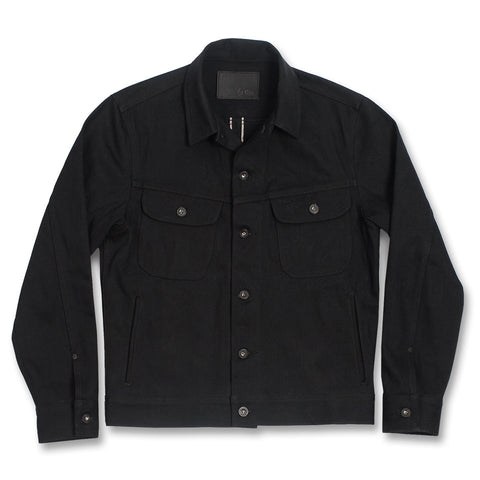 The Long Haul Jacket in Yoshiwa Mills Black Selvage - featured image