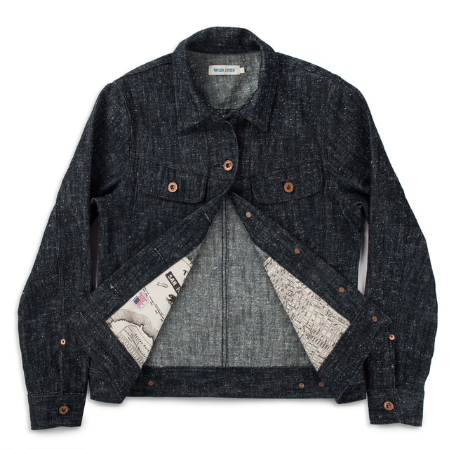 The Pacific Jacket in Indigo Silk Denim
